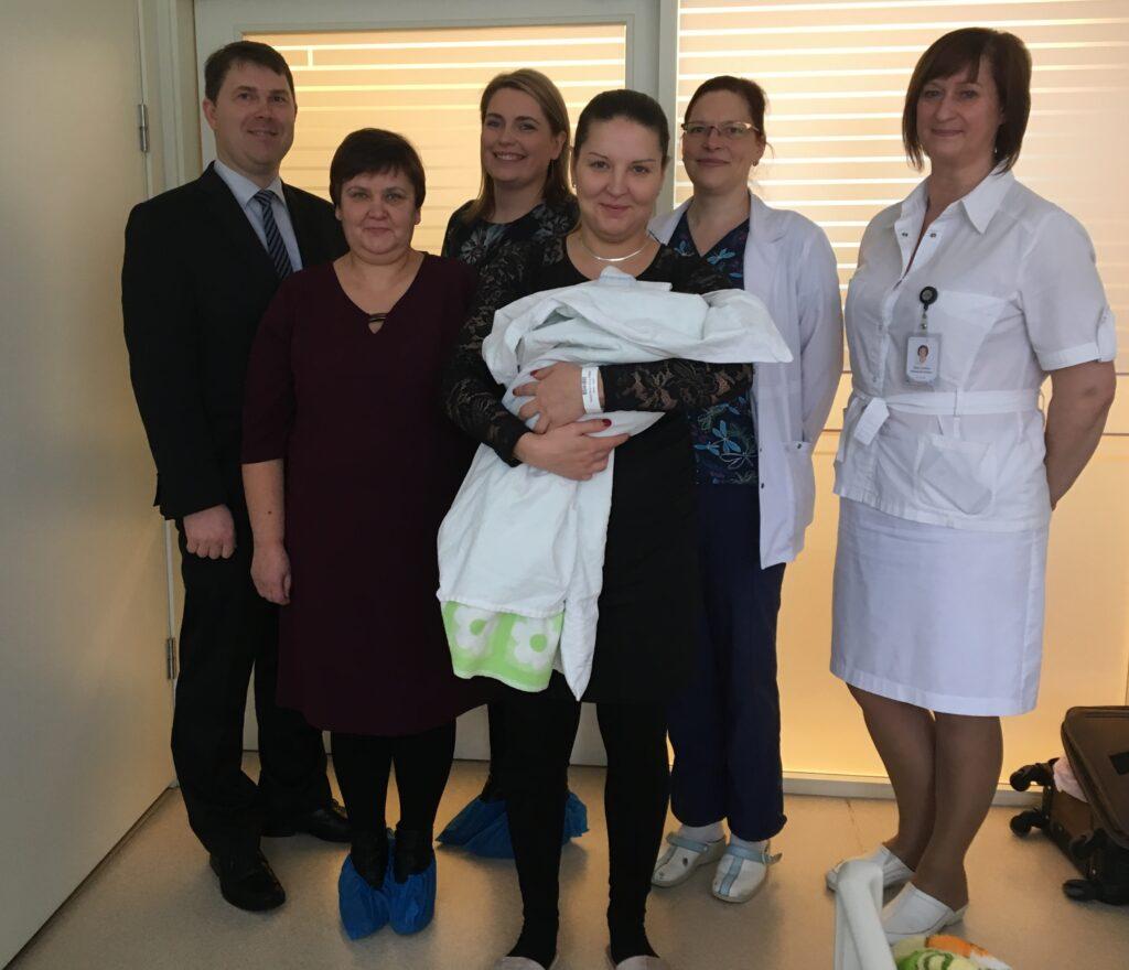 Vidzemes slimnīcā pirmie jaunā gada bērni ir puiši