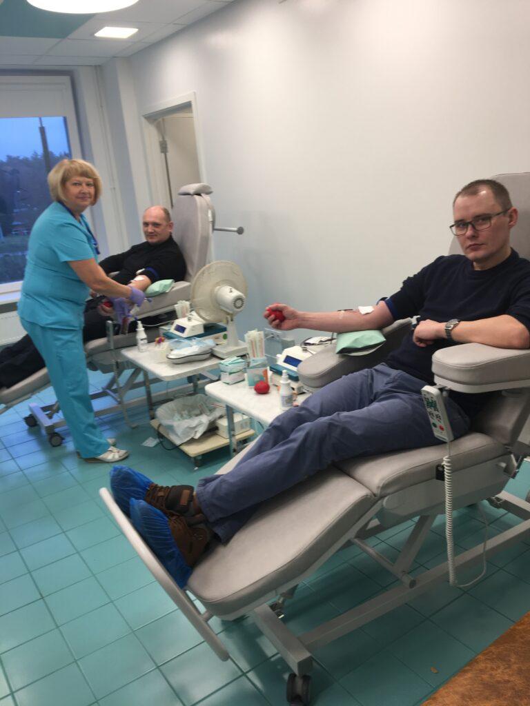 Jauni krēsli donoru apkalpošanai